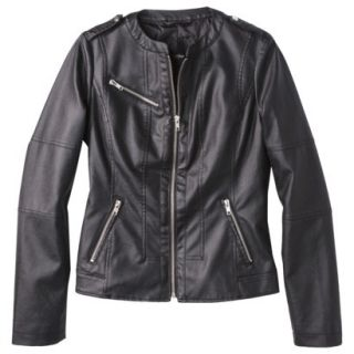 Mossimo Womens Faux Leather Jacket  Black XXL