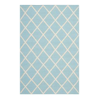 Safavieh Dhurries Light Blue/Ivory Rug DHU565B Rug Size 6 x 9