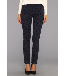 NYDJ Jade Legging Floral Jacquard Womens Jeans (Navy)