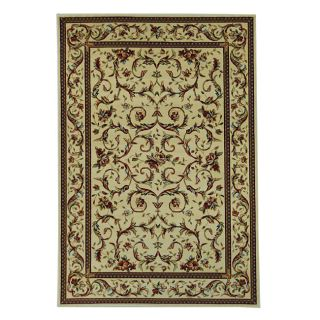 Lyndhurst Collection Traditional Ivory/ Ivory Rug (8 X 11)