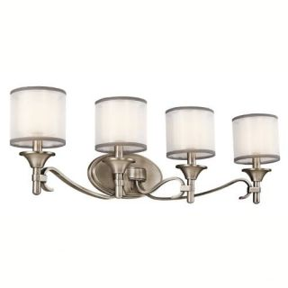 Kichler 45284AP Bathroom Light, Transitional Bath 4Light Fixture Antique Pewter