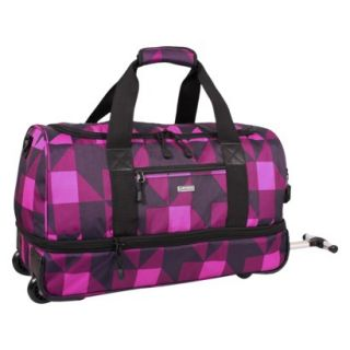 J World Stadium Carry on Rolling Duffel Bag
