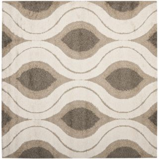 Safavieh Florida Shag Cream/Smoke Rug SG461 1179 Rug Size Square 67