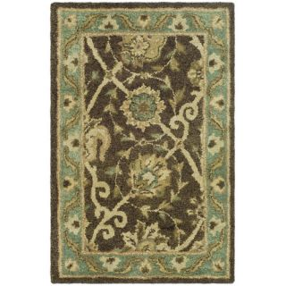Safavieh Antiquities Brown/Green Rug AT21G Rug Size 2 x 3