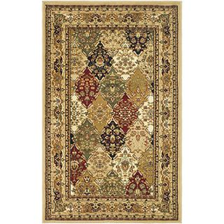 Lyndhurst Collection Multicolor/ Beige Rug (33 X 53)