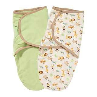 Summer Infant 2 pk. Organic Cotton SwaddleMe   Zoo, Tan