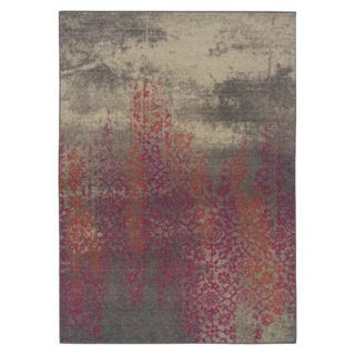 Climbing Floral Area Rug   Gray/Pink (710x1010)