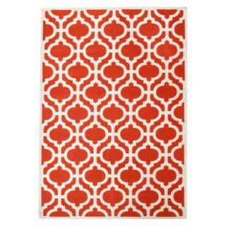 Threshold Indoor/Outdoor Fretwork Area Rug   Red (7x10)