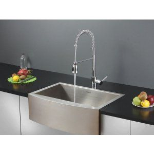Ruvati RVC2456 Combo Stainless Steel Kitchen Sink and Chrome Faucet Set
