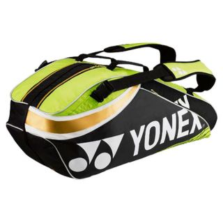Yonex Pro Six Pack Tennis Bag Lime Green/Black