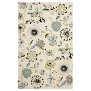 Safavieh Four Seasons Ivory / Blue Rug FRS482C Rug Size 36 x 56