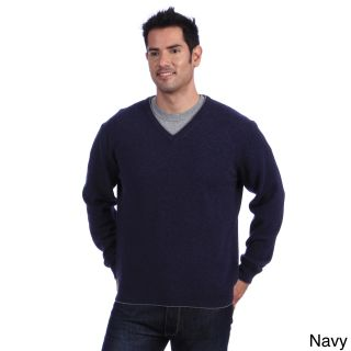 Luigi Baldo Italian Made Mens Cashmere V neck Sweater