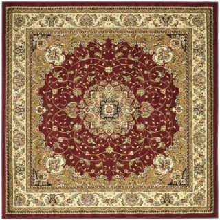 Lyndhurst Collection Red/ Ivory Rug (8 Square)