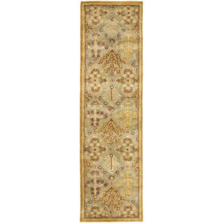 Safavieh Antiquities Light Blue / Gold AT613A Rug Size Runner 23 x 8