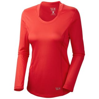 Mountain Hardwear Wicked Lite Shirt   Long Sleeve (For Women)   RED HIBISCUS (M )