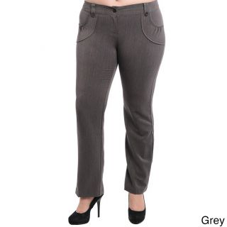 Stanzino Womens Plus Size Slim Fit Dress Pants