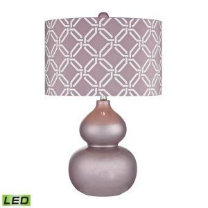 Dimond Lighting DMD D2528 Ivybridge Lilac Ceramic Table Lamp with Linked Rings S