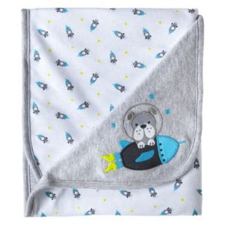 Just One YouMade by Carters Newborn Boys Rocket Dog Blanket   Grey/Blue