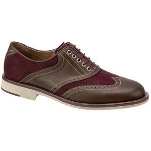 Johnston & Murphy Mens Ellington Wing Tip Brown Burgundy Shoes   20 4374