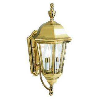 Kichler 9439PB Outdoor Light, Transitional Wall 2 Light Fixture Polished Brass
