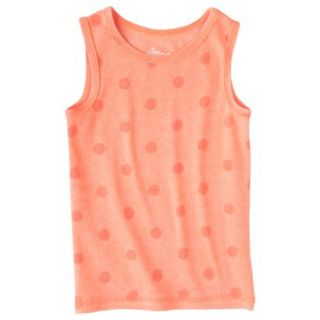 Circo Infant Toddler Girls Ribbed Polka Dot Tank Top   Moxie Peach 4T