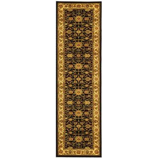 Lyndhurst Collection Majestic Black/ Ivory Runner (23 X 16)