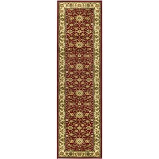 Lyndhurst Collection Majestic Red/ Ivory Runner (23 X 20)