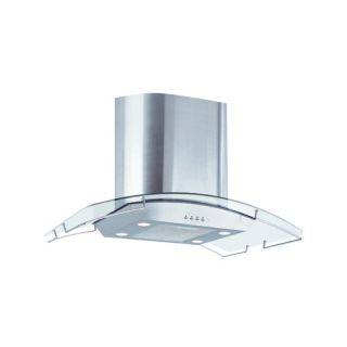 Air King IBIZ36GL Ibiza Chimney Style Island Mount Range Hood with Glass Canopy, 36Inch Stainless Steel
