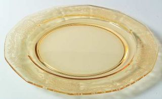 Fostoria June Topaz/Yellow Large Dinner Plate   Stem #5098, Etch #279, Yellow