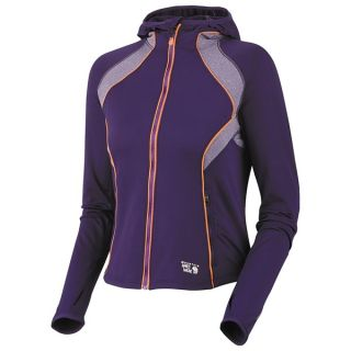 Mountain Hardwear Super Power Hoodie Jacket   Full Zip (For Women)   BLACK (L )