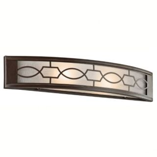 Kichler 45351MIZ Bathroom Light, Transitional Bath 2Light Fixture Mission Bronze