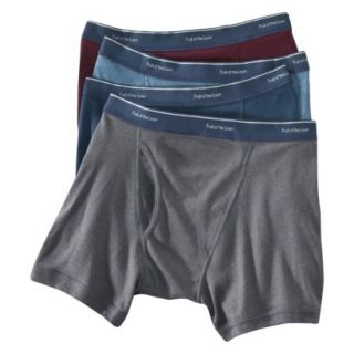 Fruit of the Loom Mens Low Rise Boxer Briefs 4 Pack   Assorted Colors S
