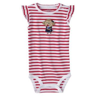 Just One YouMade by Carters Newborn Girls Striped Bodysuit   Red/White 3 M