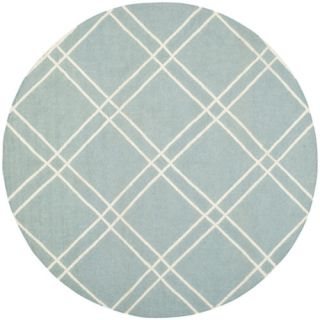 Safavieh Dhurries Light Blue/Ivory Rug DHU638C Rug Size Round 6