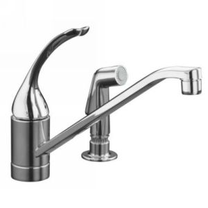 Kohler K 15176 FL BN Coralais Single Handle Kitchen Faucet with Sidespray