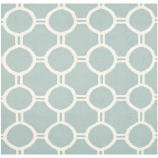 Safavieh Dhurries Light Blue/Ivory Rug DHU636C Rug Size Square 6 x 6