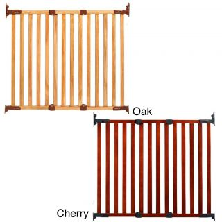 Kidco Angle Mount Wood Safeway Child Gate (Oak, or cherryWidth of slats 2 inchesPackage includes One (1) main gate with installation accessoriesMaterials Wood/plasticModel G2300, G2301Dimensions 27.5 inches long x 1.92 inches wide x 30 inches highAss