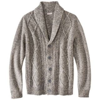 Merona Mens Shawl Collar Cardigan   Dark Taupe Flecks L