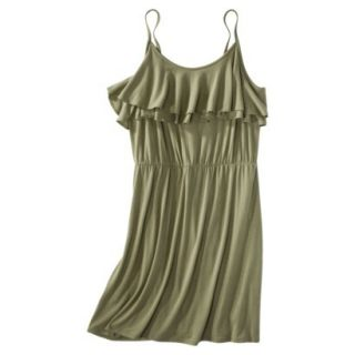Mossimo Supply Co. Juniors Plus Size Sleeveless Ruffle Front Dress   Green 3