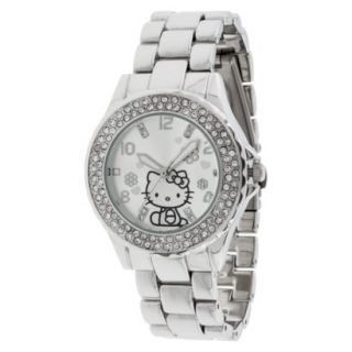 Hello Kitty Wristwatch with Rhinestones   Silver