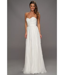 Badgley Mischka Strapless Bridal Gown Womens Dress (White)