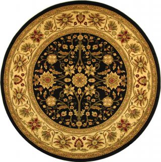 Lyndhurst Collection Majestic Black/ Ivory Rug (8 Round) (BlackPattern OrientalMeasures 0.375 inch thickTip We recommend the use of a non skid pad to keep the rug in place on smooth surfaces.All rug sizes are approximate. Due to the difference of monito