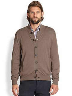 Brunello Cucinelli Relaxed Cotton Cardigan   Medium Brown