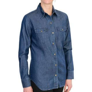 Carve Designs Holton Shirt   TENCEL(R) Cotton  Long Sleeve (For Women)   DENIM (M )