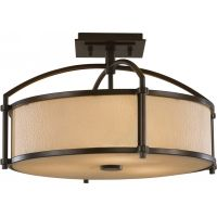 Feiss SF270HTBZ Preston 3   Light Indoor Semi Flush Mount