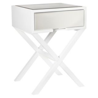 Accent Table Threshold Mirrored Accent Table   White