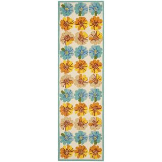 Safavieh Four Seasons Ivory / Blue Rug FRS469A Rug Size Runner 23 x 8