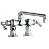 Chicago Faucets 772 ABCP Universal Deck Mounted Sink Faucet