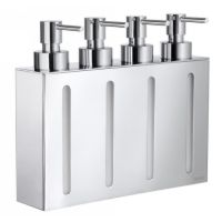 Smedbo FK260 Outline Wall Mount Soap or Lotion Dispenser with 4 Containers