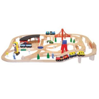 Deluxe Wooden Railway Set